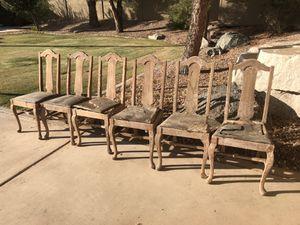 Six antique oak chairs for Sale in Phoenix, AZ