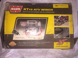 Warn xt15 atv winch $175 for Sale in Indianapolis, IN