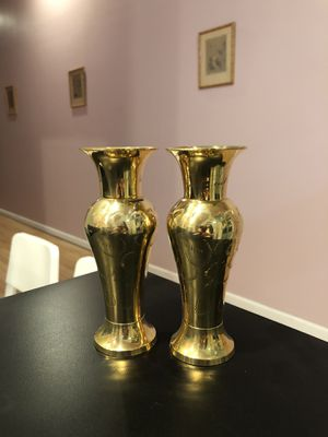 Vintage Solid Brass Vase Hand Etched Made In India Style B for Sale in Feasterville-Trevose, PA