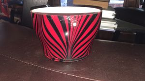 Black & Red Decorative Glass Bowl for Sale in Memphis, TN