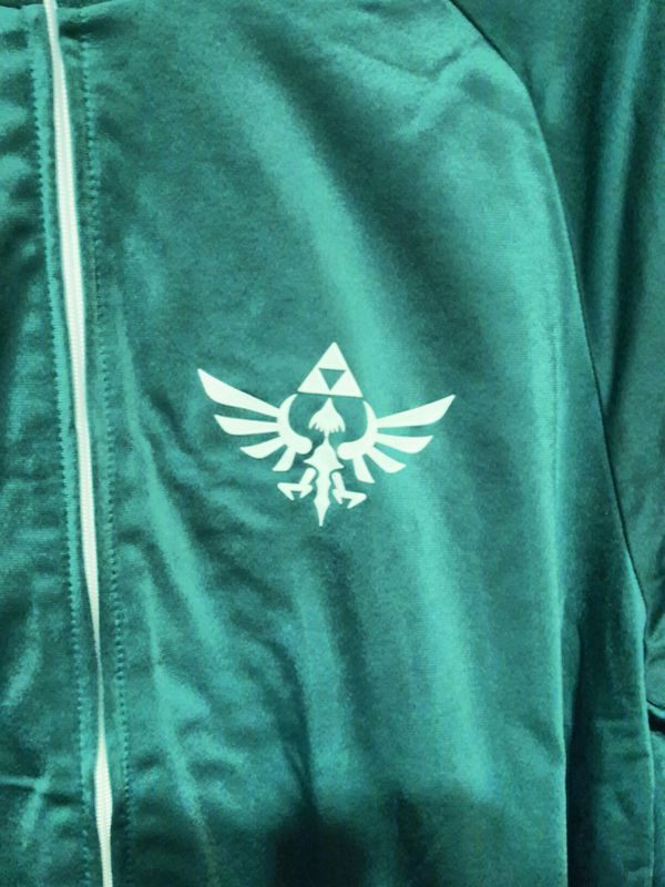 Nintendo The Legend Of Zelda Green and White 2018 Track Jacket Size: Xtra Large