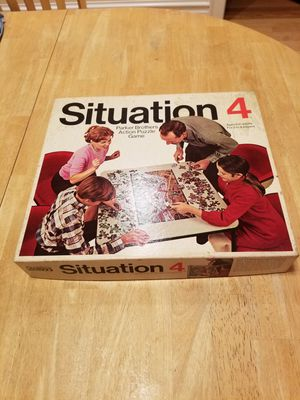 Vintage 1968 Parker Bros Situation 4 Action Puzzle Board Game for Sale in Skokie, IL