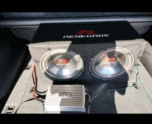 "2 12"" Subs in ported box and 1500watt boss amp for Sale in Alma, AR"