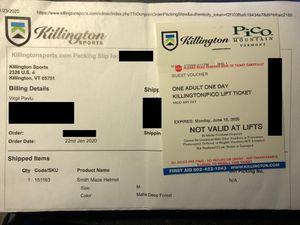 Killington lift ticket for Sale in Boston, MA