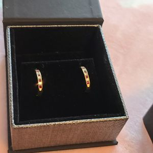 Rose Gold Earrings With Ruby And Diamonds for Sale in Phoenix, AZ