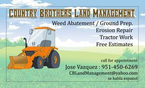 Tractor SRVCS with multiple attachments for Sale in Perris, CA