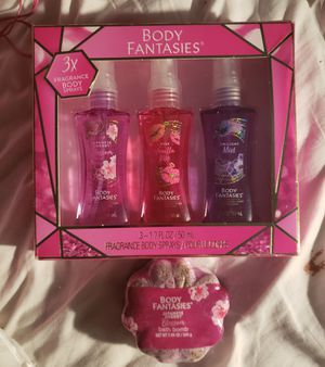Set of 3 Body Sprays and A Bath Bomb. for Sale in Malden, MA