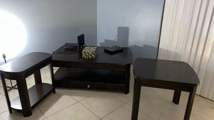 Coffee table with storage and 2 end table for Sale in Margate, FL