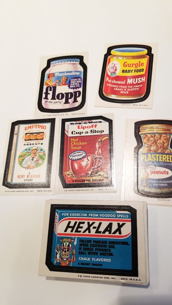 70s VINTAGE WACKY PACKAGES TRADING CARDS