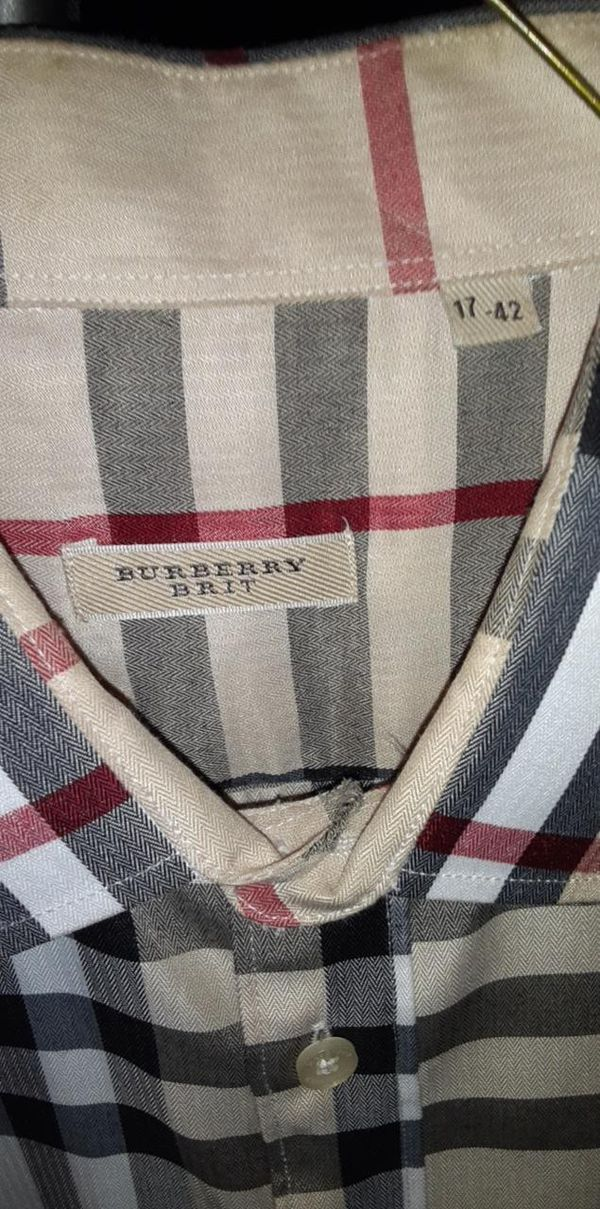 Men's Burberry long sleeve size large