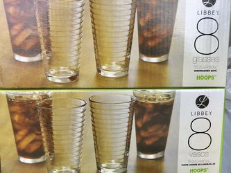 Brandnew Libbey Hoops Glasses 8 Pcs for Sale in West Palm Beach,  FL