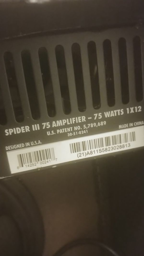 Line 6 Spider 3 - 75w 1x12 amplifier