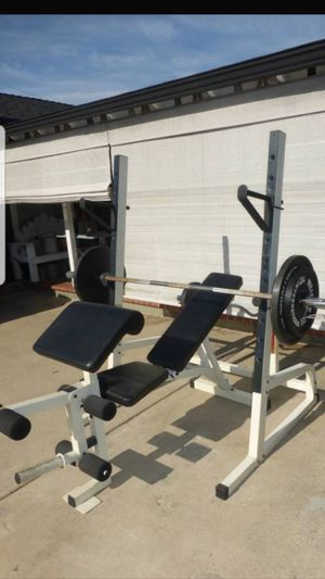 Squat rack with weights for Sale in Anaheim, CA