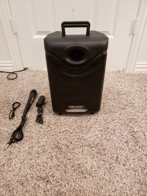 Dolphin 8 inch Woofer,Bluetooth,FM Radio,Micphone and Remote Control. for Sale in Dallas, TX