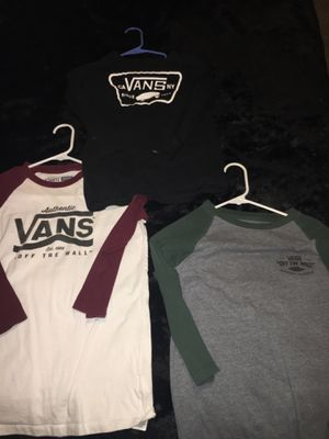 Vans long sleeve T-shirts size medium youth for Sale in Lebanon, TN