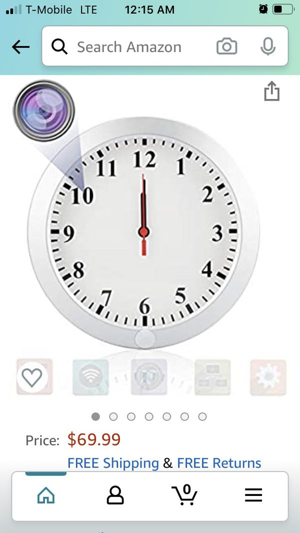 Wall Clock ( nanny camera)
