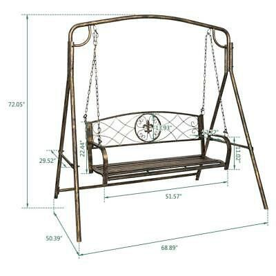 Iron Patio Hanging Porch Swing Chair