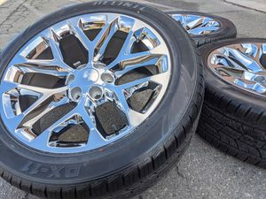"22"" Chevy Avalanche Tahoe Silverado $1500 Wheels Tires P285 45R22 Rims for Sale in Matthews, NC"