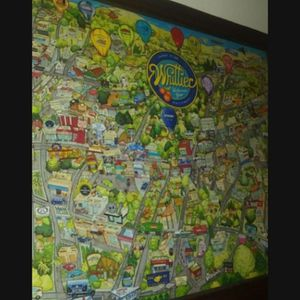 A large Custom Business Map of Whittier for Sale in Whittier, CA