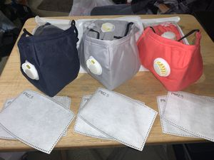 Reusable Washable Cloth Face Mask + 2 PM2.5 Carbon Filters $3 for Sale in Orange, CA
