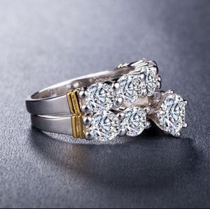 Sterling Silver 2pc Wedding Rings for Sale in Sunrise, FL