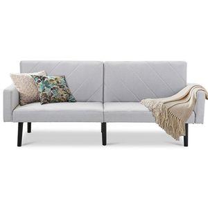 Modern Grey Linen Split-Back Futon Sofa Bed Couch.FF-765477788FS. for Sale in San Francisco, CA