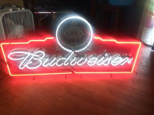 Budweiser neon sign for Sale in Oklahoma City, OK