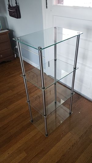 Glass shelf with metal legs for Sale in Wrightsville, PA