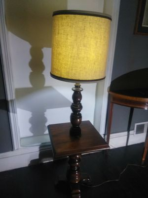 VINTAGE lamp, with attached table for Sale in Clayton, MO