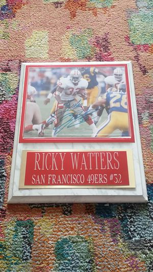 Authentic Ricky Watters Autograph for Sale in San Diego, CA