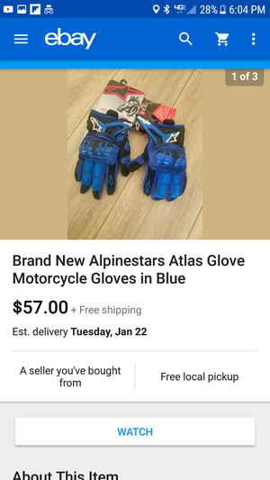 New Aplinestars Motorcycle Gloves Large In Blue for Sale in Miami, FL