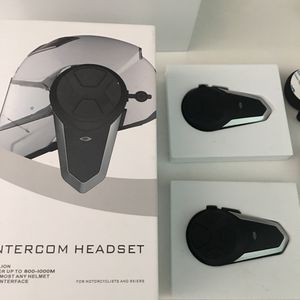 Blue Tooth Motorcycle Intercom Headset for Sale in League City, TX