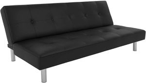 Black faux leather futon for Sale in Columbus, OH