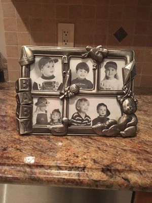 Baby collage 8x11 silver picture frame for Sale in Boca Raton, FL