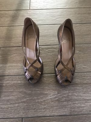 Christian Louboutin gold shoes for Sale in San Diego, CA