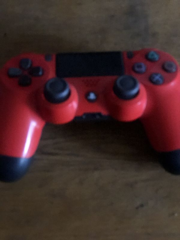 Custom Red Ps4 Controller