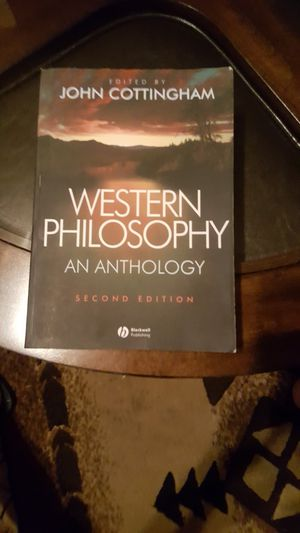 Western Phylosophy an Anthology Second Edition for Sale in Irwindale, CA