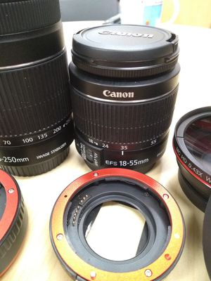 Canon lenses lens accessories adapter wide angle lens for Sale in San Jose, CA