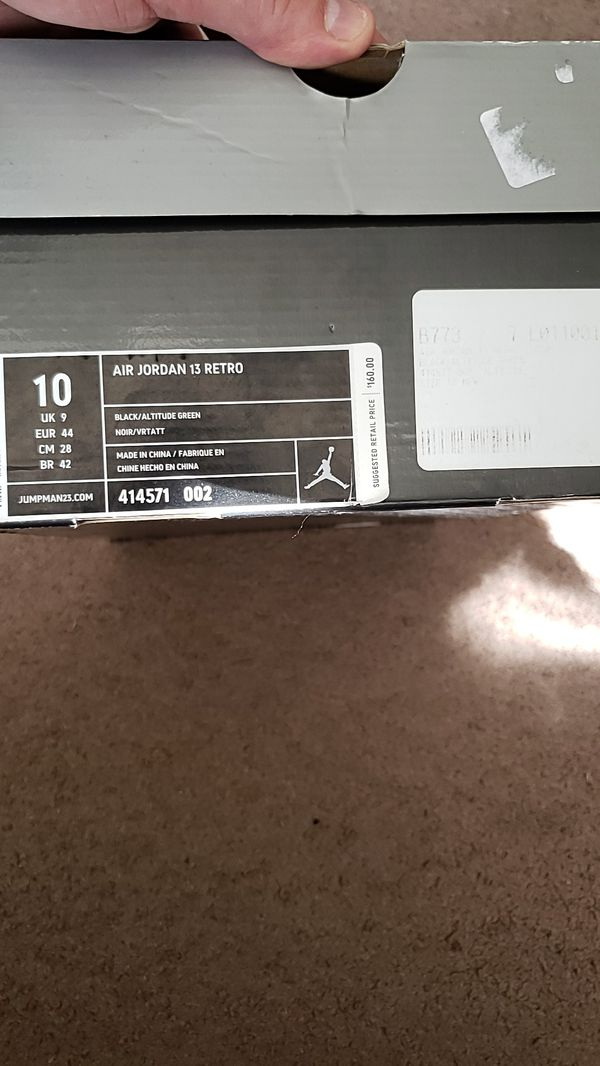 Nike air Jordan retro 13 altitude 414571 002 Size 10