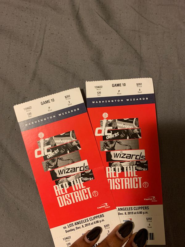 Wizards vs. Clippers Tickets $190 each