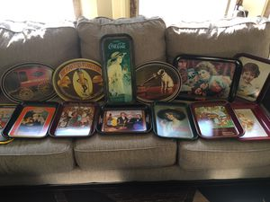 Collection of brand new Tin Trays 13 pieces and all $75 for Sale in Varna, IL
