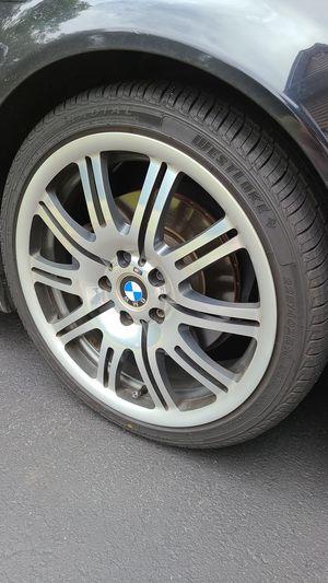 "BMW E46 M3 oem 19"" set great shape for Sale in Shrewsbury, MA"