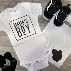 Baby Boy Clothing MAMA'S BOY Onesie for Sale in Paramount, CA