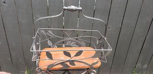 Metal and Wood Ornate basket for Sale in Lorain, OH