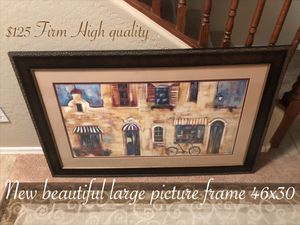 New beautiful large picture frame 46 x 30 $125 firm for Sale in Laveen Village, AZ