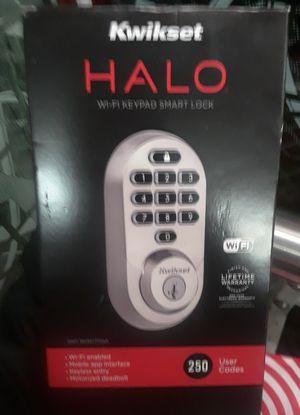 HALO Satin Nickel Keypad Wi-Fi Electronic Single-Cylinder Smart Lock Deadbolt featuring SmartKey Security for Sale in Renton, WA
