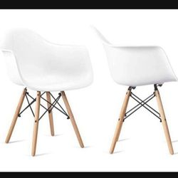 Dining Chair Set of 2 Mid Century Modern Kitchen Table Dining Chairs for Kitchen, Dining Room and Waiting Room Modern DSW Chair for Sale in Los Angeles,  CA