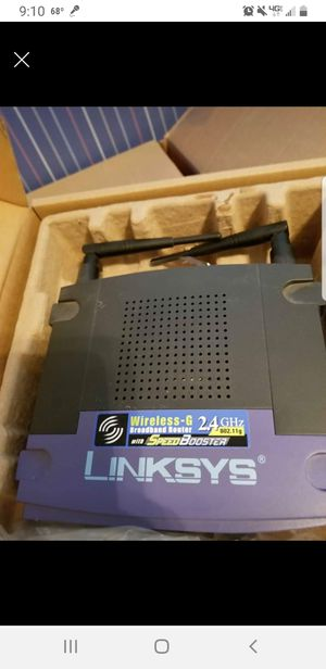Linksys wireless router with speed booster for Sale in Clinton Township, MI