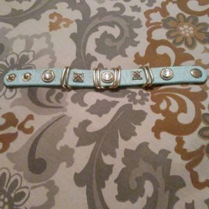Leather jeweled bracelet for Sale in Lyons, GA