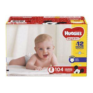 Huggies Snug&Dry Diapers Big Pack, Sz 2 (104ct) for Sale in Atlanta, GA